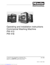 Miele PW 413 Operating And Installation Instructions