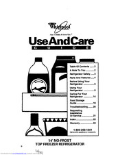 Whirlpool ET14HJXDW00 Use And Care Manual