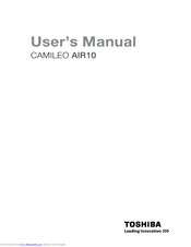 Toshiba CAMILEO AIR10 User Manual