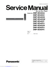 Panasonic DMP-BD65PU Service Manual