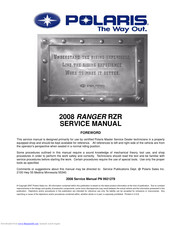 Polaris RANGER RZR 2008 Service Manual