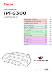 Canon imagePROGRAF iPF6300 User Manual