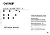 Yamaha CL3 Reference Manual