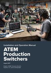 Blackmagicdesign Atem Television Studio Hd Manuals Manualslib