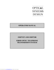 Optical Systems Design Osd732t Manuals