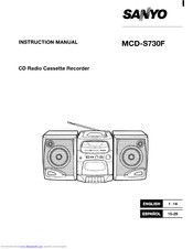 Sanyo MCD-S730F Instruction Manual