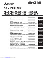 Mitsubishi Electric Mr.Slim PEAD-RP71JALQ Installation Manual