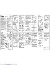 Mitsubishi Electric MSZ-A12YV SERIES Installation Manual