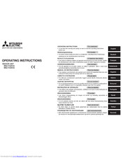 Mitsubishi Electric MSZ-FA25VA Operating Instructions Manual