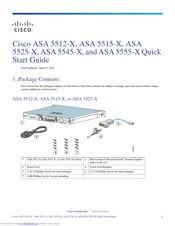 CISCO ASA 5512-X QUICK START MANUAL Pdf Download