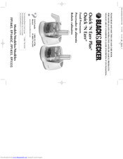 Black & Decker FP1445C User And Care Book