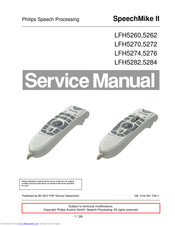 Philips LFH5284 - SpeechMike Pro Barcode 5284 Service Manual