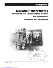 Honeywell AlarmNet 7847i-E Installation And Setup Manual