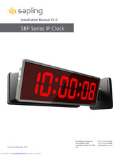 Sapling digital time clock SBD-31S-404-4R