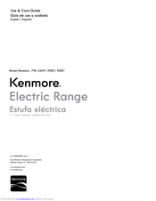 Kenmore 790.6409 Series Use & Care Manual