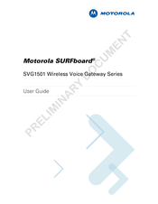 Motorola SURFboard SVG1501 User Manual