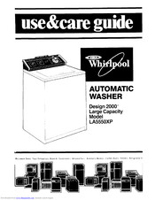 Whirlpool LA5550XPW5 Use & Care Manual