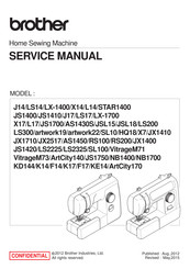 Brother JX2517 Service Manual