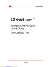 LG LWL-1100P User Manual
