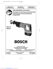 Bosch 1644-24 Operating/Safety Instructions Manual