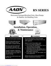 Aaon Rn Series Manuals Manualslib