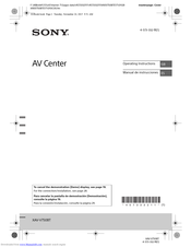 Sony XAV-V750BT Operating Instructions Manual