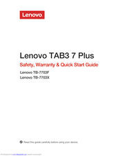 Lenovo PB2-690Y Safety, Warranty & Quick Start Manual