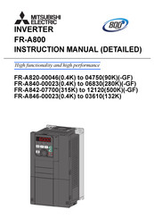 Mitsubishi Electric FR-A840-00052-GF (1.5K) Instruction Manual