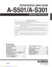Yamaha A-S301J Service Manual