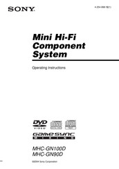 Sony MHC-GN100D Operating Instructions Manual