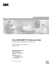 Cisco ONS 15310-CL Reference Manual