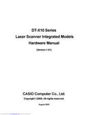 Casio DT-X10M10RC2 Hardware Manual