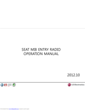 LG SEAT MIB ENTRY RADIO Operation Manual