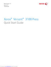 Xerox Versant 3100 Quick Start Manual