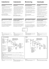 Sony WX-C570R Installation Instructions