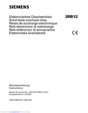 Siemens 3RB12 Instructions Manual