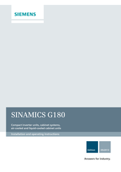 Siemens SINAMICS G180 Installation And Operating Instructions Manual