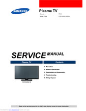 Samsung PS51E450A1W Service Manual