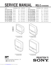 Sony KP-EF41SN Service Manual