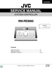 JVC RM-RE9000 Service Manual