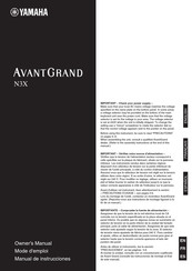 Yamaha AvantGrand N3X Owner's Manual