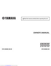 Yamaha YYYYYY Owner's Manual