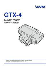 Brother GTX-4 Instruction Manual