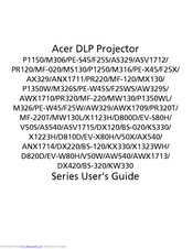 Acer P1350WL User Manual