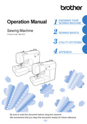 Brother 888-E31 Operation Manual