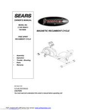 Sears Free Spirit Owner S Manual Pdf Download Manualslib