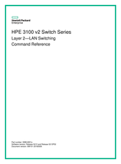 HP 3100 v2 Series Command Reference Manual