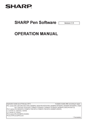 Sharp aquos PN-L603B Operation Manual