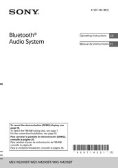Sony MEX-N5200BT Operating Instructions Manual
