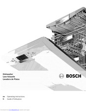 Bosch SHEGER55UC Operating Instructions Manual
